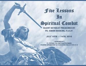 Spiritual Combat Retreat Poster
